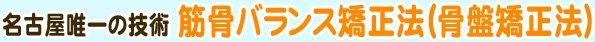 名古屋唯一の技術 筋骨バランス矯正法(骨盤矯正法)
