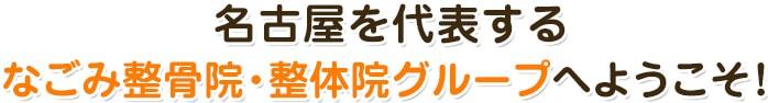 名古屋を代表するなごみ整骨院グループへようこそ!